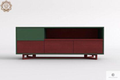 Szafka pod telewizor z drewna litego i płyty do salonu NORD Producent Mebli RaWood Premium Furniture