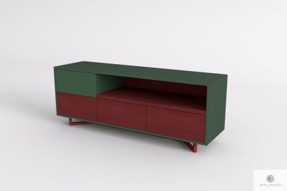 Szafka pod telewizor z drewna litego i plyty do salonu NORD find us on https://www.facebook.com/RaWoodpl/