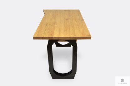Biurko z drewna litego czarnej stali do gabinetu biura WALT