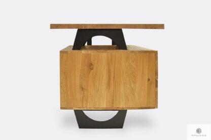 Drewniane biurko z kontenerkiem z szufladami do gabinetu WALT