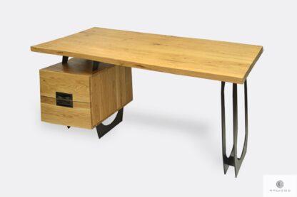 Nowoczesne biurko gabinetowe dębowe do biura WALT