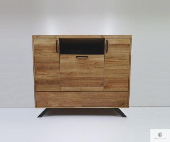 Nowoczesna komoda z debowego drewna litego do sypialni salonu find us on https://www.facebook.com/RaWoodpl/