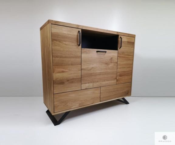 Nowoczesna komoda z dębowego drewna litego do sypialni salonu find us on https://www.facebook.com/RaWoodpl/