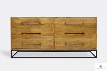 Industrialna komoda z szufladami z drewna dębowego do salonu MERIS