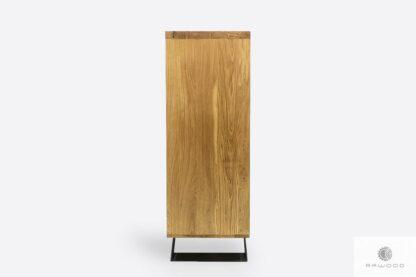 Komoda z dębowego drewna metalu do salonu JORGEN