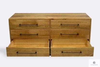 Loft komoda z szufladami w industrialnym stylu do salonu MERIS