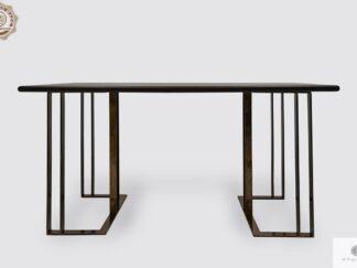 Stół z dębowego drewna na metalowych nogach do jadalni salonu MERIDIAN Producent Stołów RaWood Premium Furniture