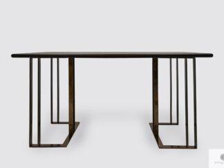 Stół z dębowego drewna na metalowych nogach do jadalni salonu MERIDIAN