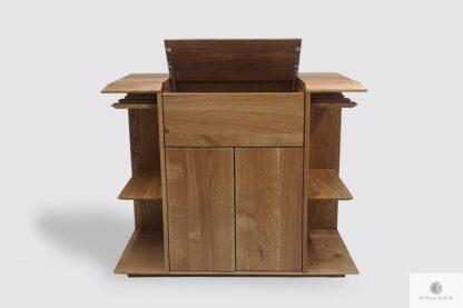 Dębowy barek na alkohole i kieliszki do jadalni salonu CARMEN I Producent Mebli RaWood Premium Furniture