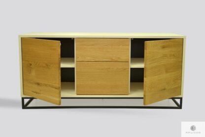 Komoda szafka RTV z drewna litego dębowego do salonu ADEO III Producent Mebli RaWood Premium Furniture