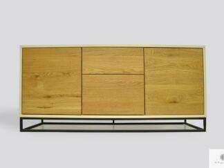 Komoda szafka RTV z drewna litego dębowego do salonu ADEO III