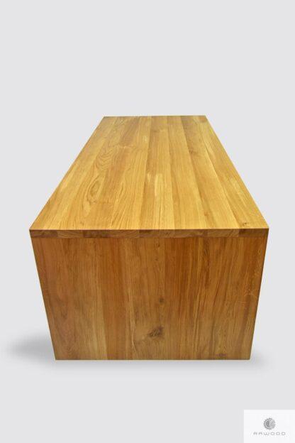 Nowoczesne biurko dębowe z szufladami do gabinetu biura DAVOS Producent Mebli RaWood Premium Furniture