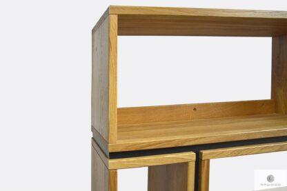 Designerski regał na książki drewniany z naturalnego drewna litego na wymiar LIVO