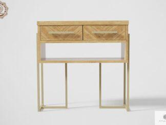 Dębowy pomocnik z szufladami w jodełkę do salonu przedpokoju CARIN Producent Mebli RaWood Premium Furniture