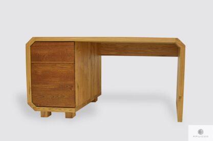 Duże biurko dębowe do gabinetu biura OMNIS I Producent Mebli RaWood Premium Furniture