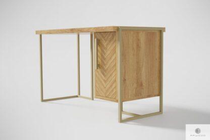 Nowoczesne biurko z litego drewna dębowego do biura gabinetu CARIN Producent Mebli RaWood Premium Furniture