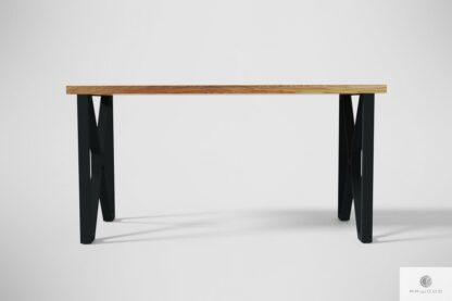 Nowoczesne dębowe biurko na metalowych nogach GORAN