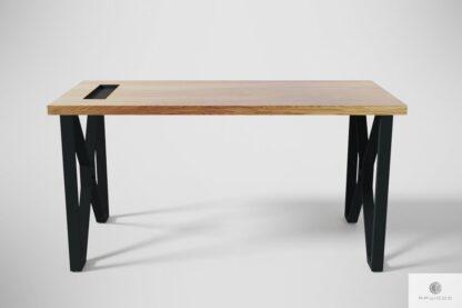 Schowek w blacie do biurka GORAN Producent Mebli RaWood Premium Furniture