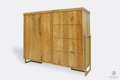 Nowoczesna komoda drewniana z szufladami do sypialni CARIN