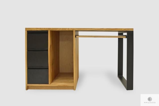 Biurko dębowe z szufladami z litego drewna do gabinetu MARLON