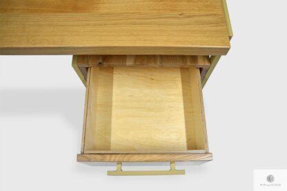 Biurko z drewna dębowego z szufladami do gabinetu GERDA