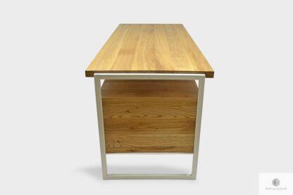 Biurko z litego drewna dębowego stali do biura GERDA