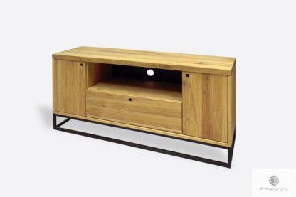 Dębowa szafka pod telewizor z szufladami do salonu MERIS