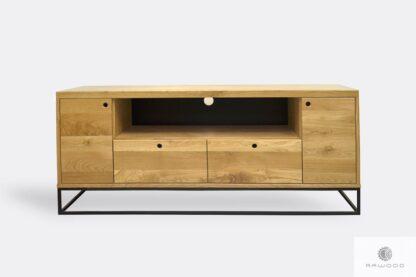 Dębowa szafka RTV z szufladami na wymiar do salonu MERIS