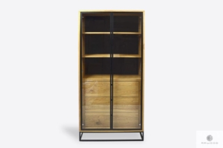 Industrialna witryna dębowa z szufladami do salonu MERIS