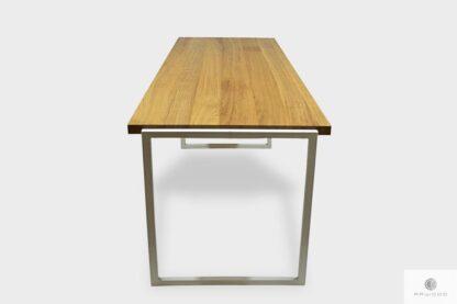 Industrialne biurko z dębowym blatem do gabinetu GERDA