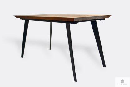 Industrialny stół dębowy na metalowych nogach do jadalni CORTEZ