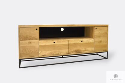 Nowoczesna szafka pod telewizor dębowa do salonu MERIS