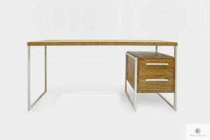 Nowoczesne dębowe biurko z szufladami do gabinetu GERDA