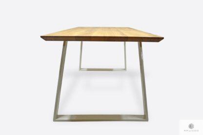 Nowoczesny dębowy stół ze szwajcarskim podcięciem do salonu CALLA II