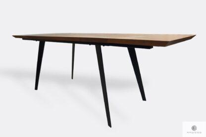 Nowoczesny stół dębowy rozkładany z dostawkami z metalowymi nogami CORTEZ