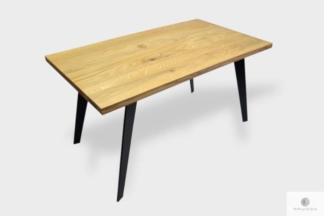 Nowoczesny stół z dębowym blatem do jadalni CORTEZ