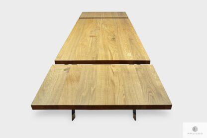 Nowoczesny stół z dębowym blatem z dostawkami do jadalni CORTEZ