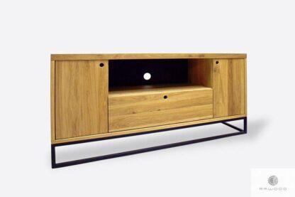 Nowoczesna dębowa szafka RTV z szufladami do salonu MERIS