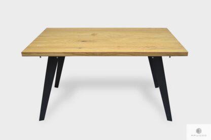 Stół dębowy na metalowch nogach do jadalni CORTEZ