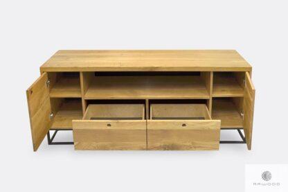 Szafka RTV dębowa z szufladami szafkami do salonu MERIS