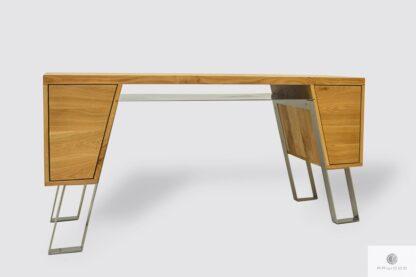 Nowoczesne biurko biurowe drewniane do gabinetu BORA I Producent Mebli RaWood Premium Furniture