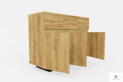 Elegancka nowoczesna komoda industrialna z litego drewna solidna DELIO
