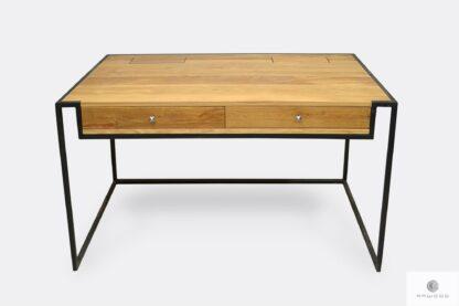 Drewniane biurko z szufladami schowkami loft do gabinetu KING
