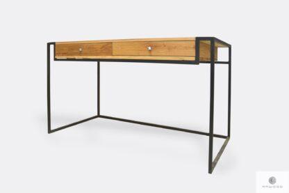 Loft biurko gabinetowe drewniane do gabinetu biura KING