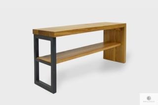 Nowoczesna ławka z litego drewna dębowego do przedpokoju HUGON