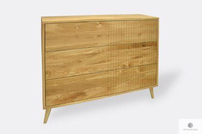 Stylowa komoda z drewna litego do salonu NESS