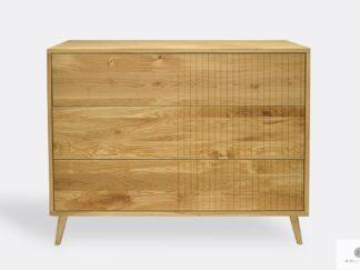 Dębowa komoda z szufladami stylowa do salonu sypialni NESS