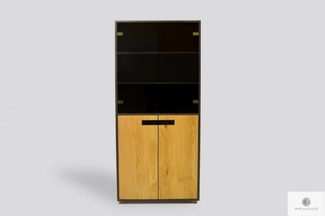 Duża witryna dębowa nowoczesna do salonu LAGOS