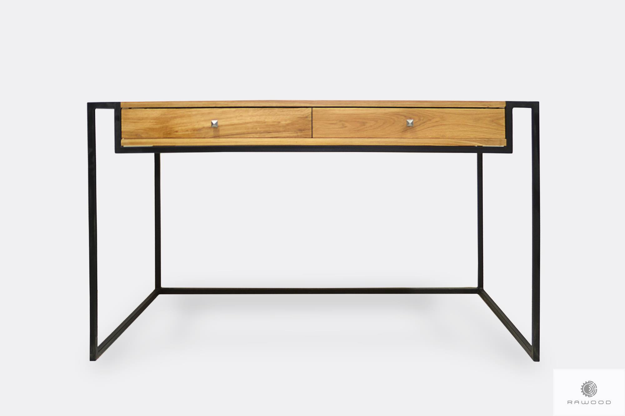 Industrialne biurko dębowe w stylu loft do gabinetu KING