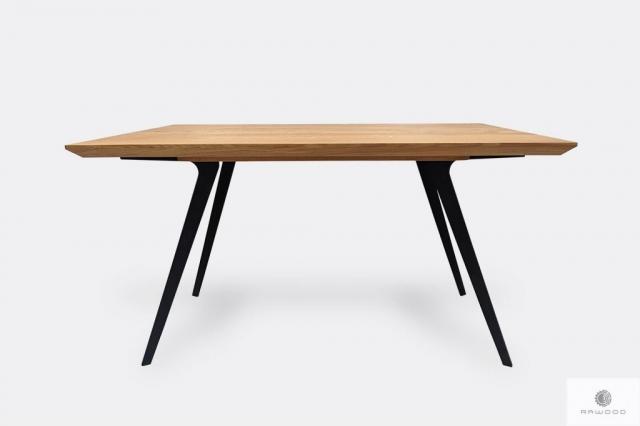 Stół dębowy na metalowych nogach do jadalni VITA